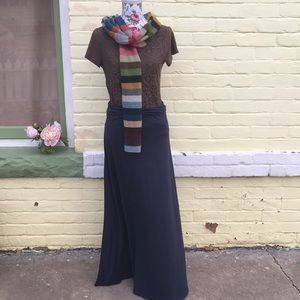 Beautiful Gray-Blue Navy Maxi Skirt